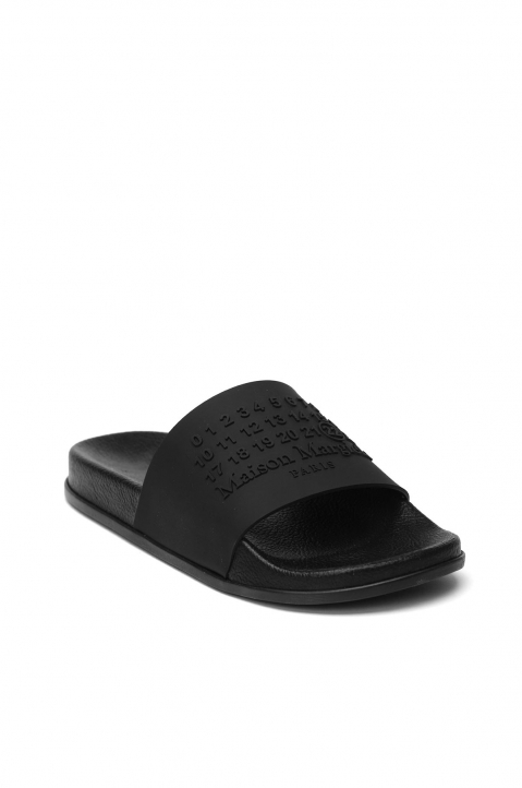 MAISON MARGIELA Black Shower Slides 1