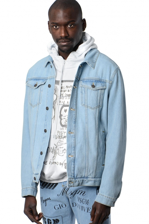 MSGM Logo Denim Jacket 0