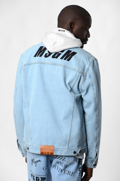 MSGM Logo Denim Jacket 2