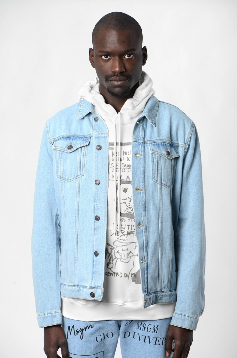 MSGM Logo Denim Jacket 1