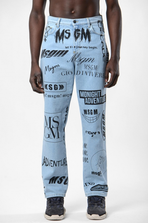MSGM Graphic Jeans 1