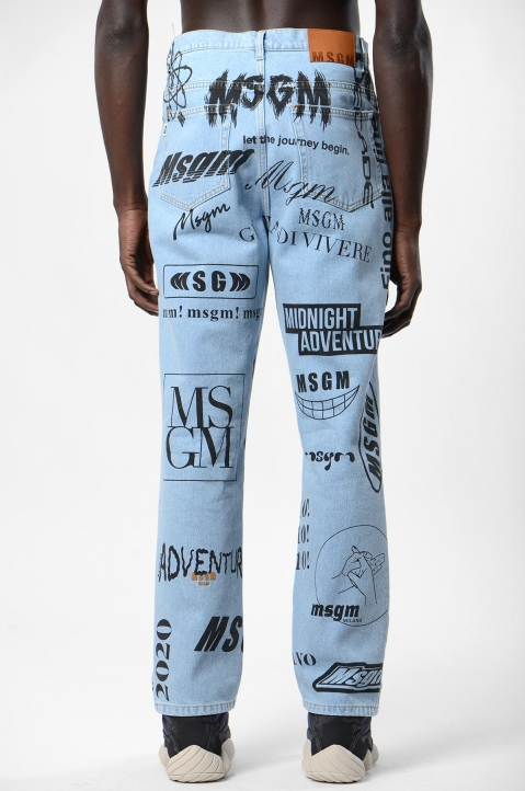 MSGM Graphic Jeans 2