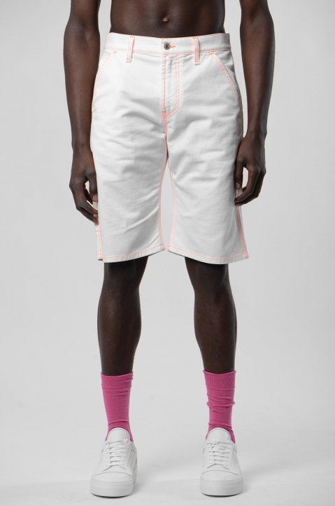 MSGM White Denim Shorts 1