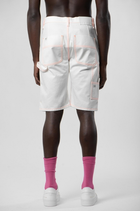 MSGM White Denim Shorts 2
