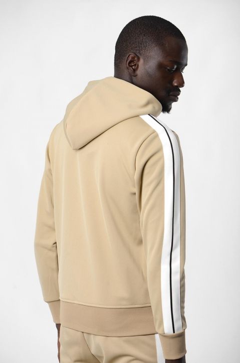 PALM ANGELS Beige Hooded Track Jacket 2