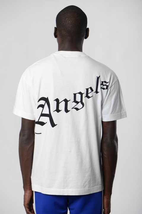 PALM ANGELS White New Gothic Tee  2