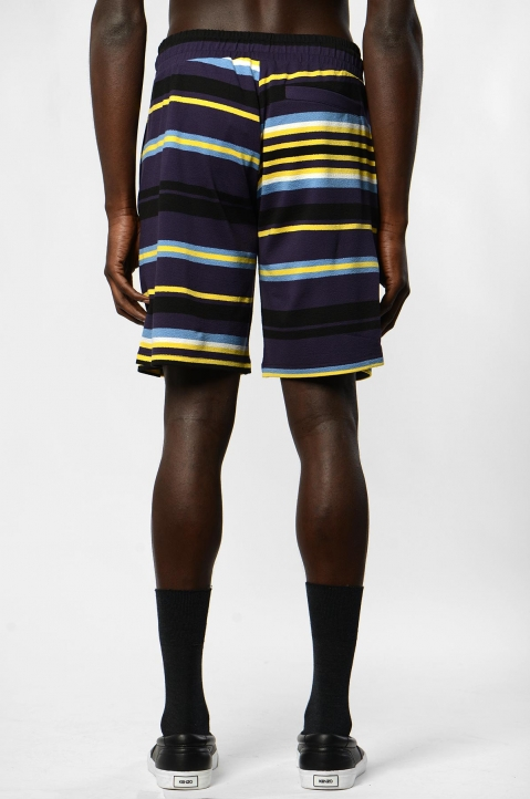 KENZO Purple Knit Striped Shorts 2