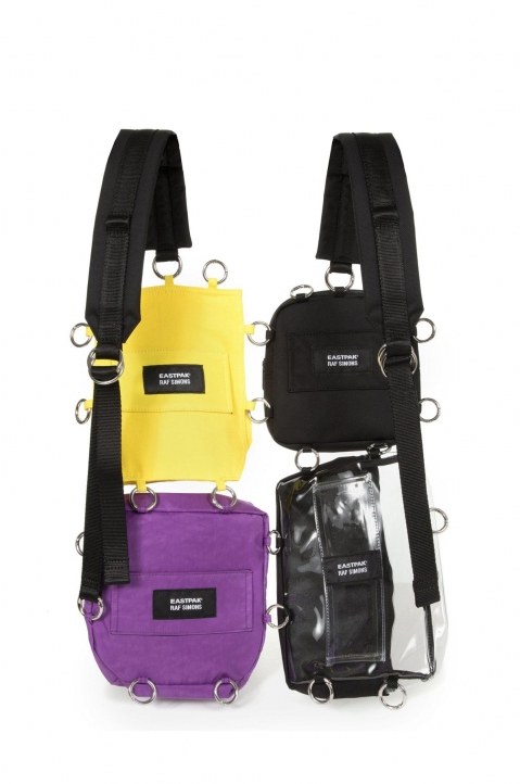 RAF SIMONS X EASTPAK Pocketbag Loop Quote Purple/Yellow  1