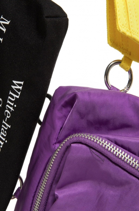 RAF SIMONS X EASTPAK Pocketbag Loop Quote Purple/Yellow  2