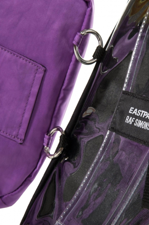 RAF SIMONS X EASTPAK Pocketbag Loop Quote Purple/Yellow  3