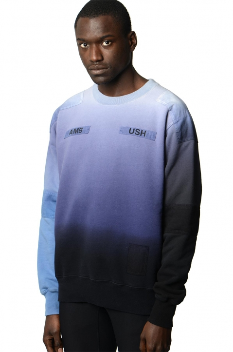 AMBUSH Blue/Grey Patches Sweatshirt 0
