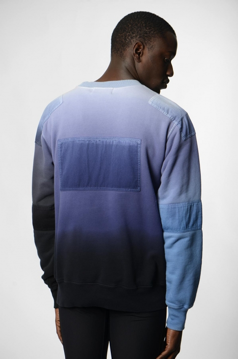 AMBUSH Blue/Grey Patches Sweatshirt 2
