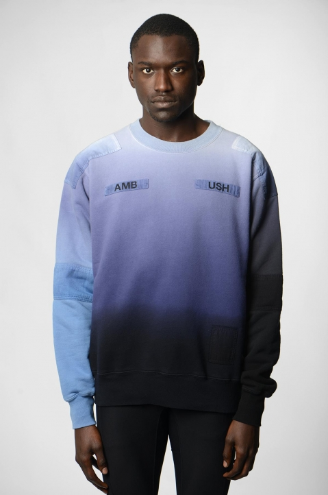 AMBUSH Blue/Grey Patches Sweatshirt 1
