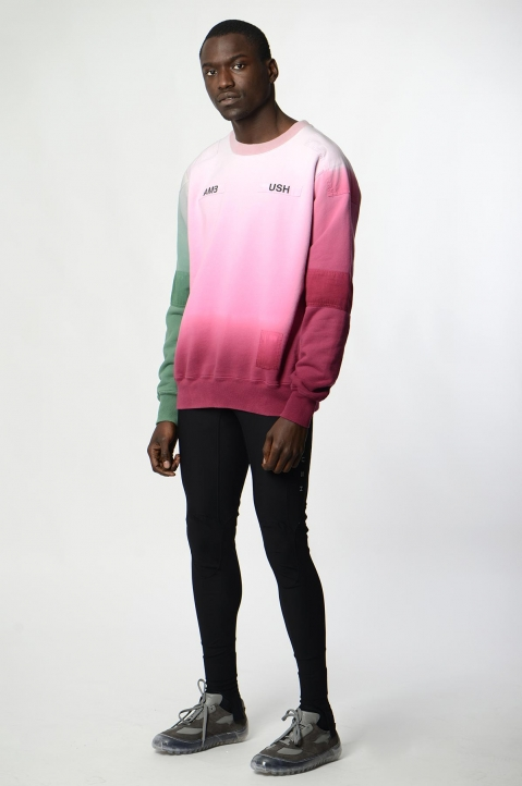 AMBUSH Pink/Green Patches Sweatshirt 3