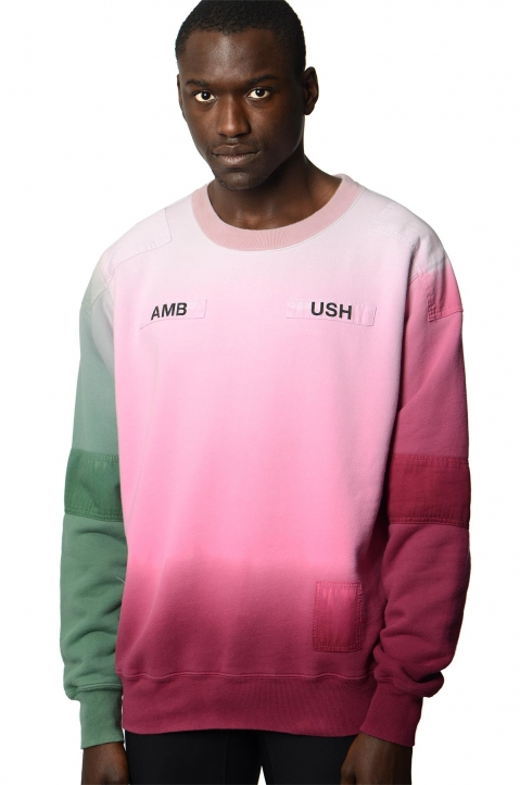 AMBUSH Pink/Green Patches Sweatshirt 0
