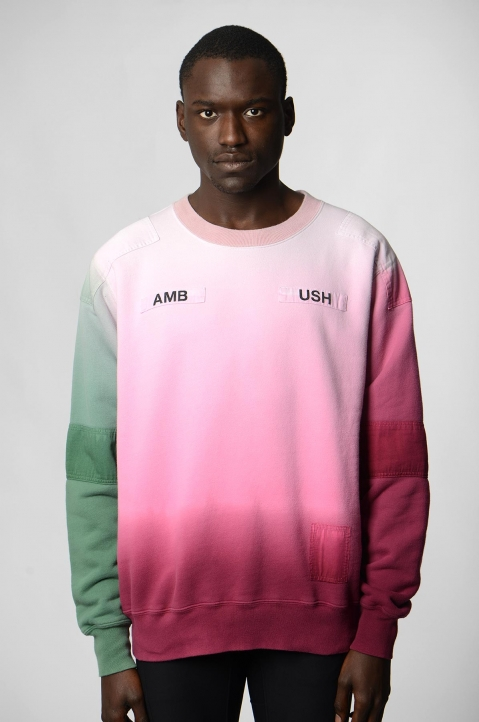 AMBUSH Pink/Green Patches Sweatshirt 1