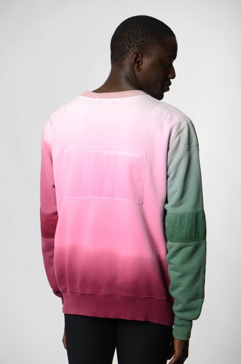 AMBUSH Pink/Green Patches Sweatshirt 2