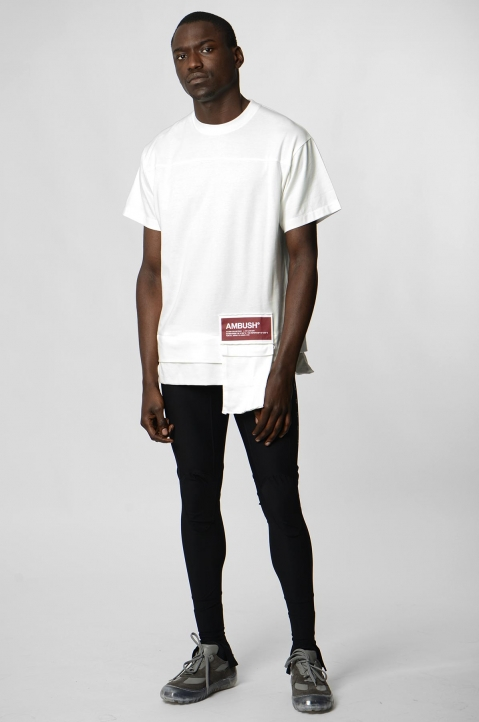 AMBUSH White Waist Pocket Tee 3