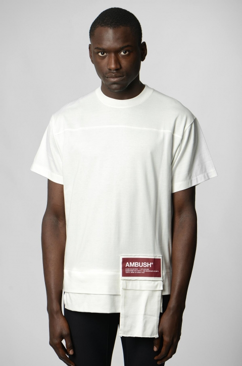 AMBUSH White Waist Pocket Tee 1