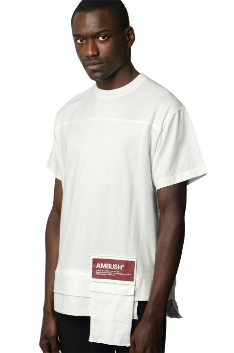 AMBUSH White Waist Pocket Tee 0