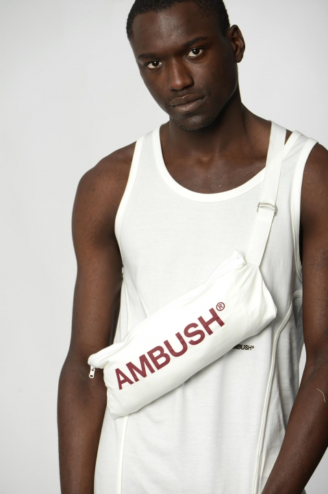 AMBUSH White Waist Pocket Tee 4