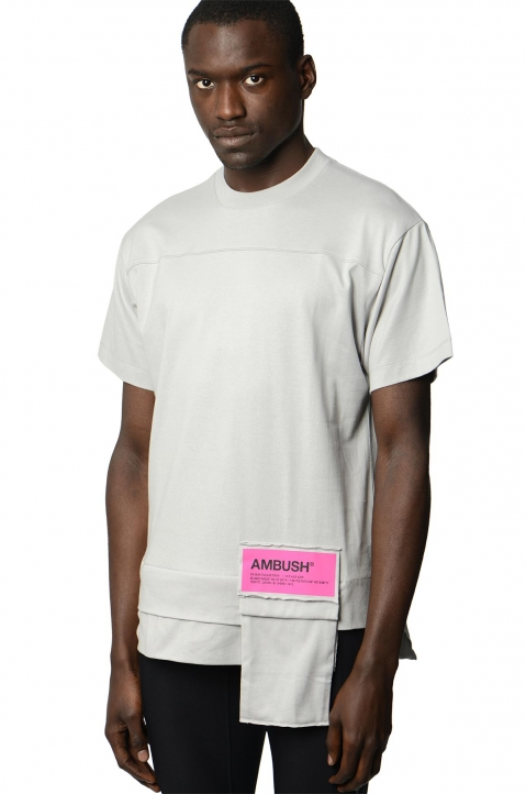 AMBUSH Grey Waist Pocket Tee 0