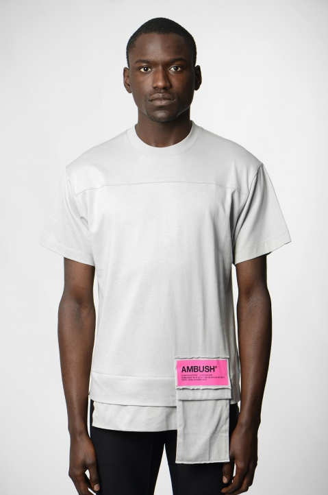 AMBUSH Grey Waist Pocket Tee 1