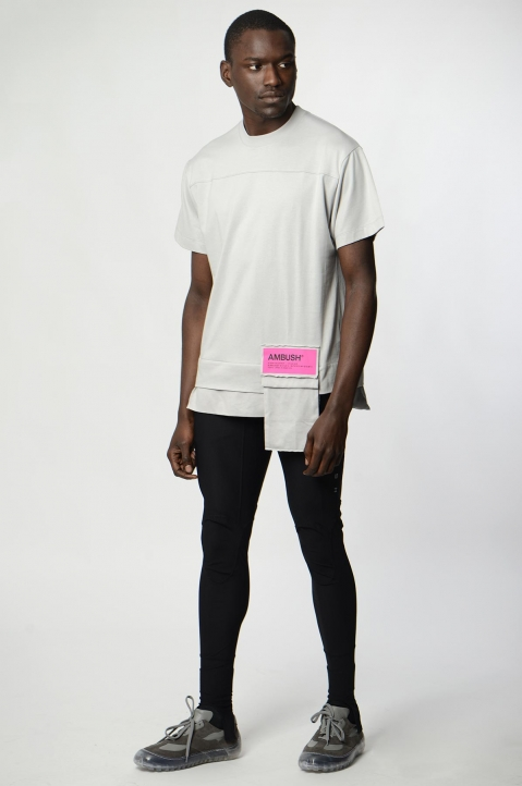 AMBUSH Grey Waist Pocket Tee 3