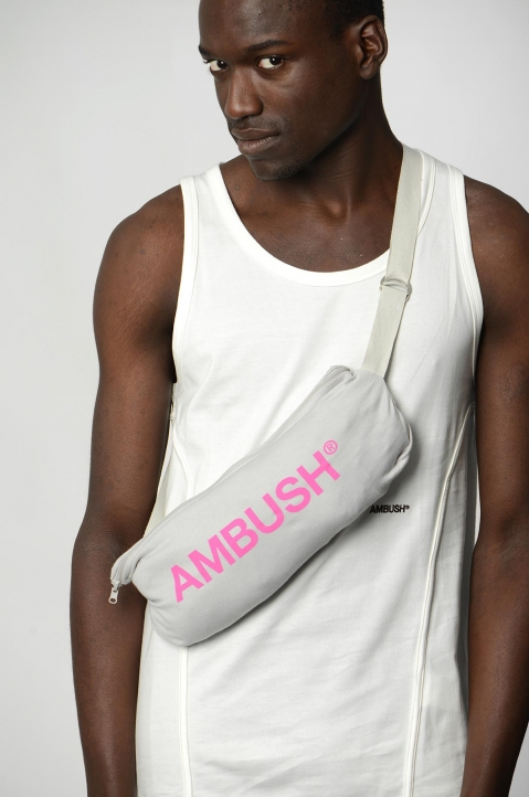 AMBUSH Grey Waist Pocket Tee 4