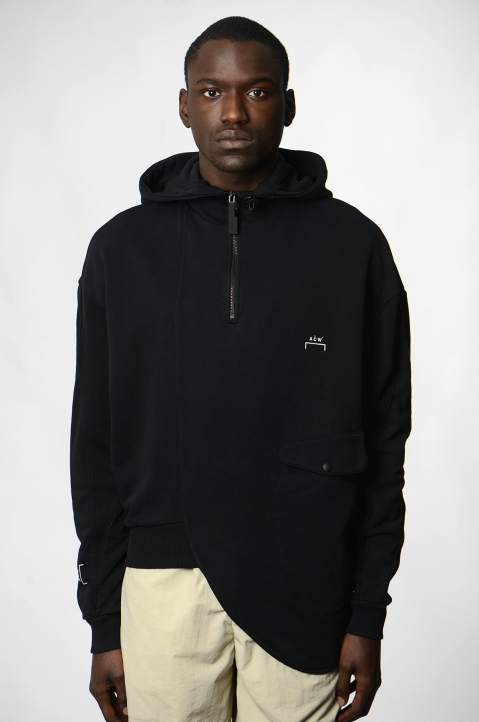 A-COLD-WALL* Curve Black Hoodie 1