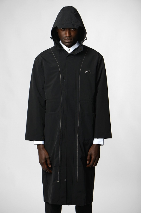 A-COLD-WALL* Black Windbreaker Coat 1