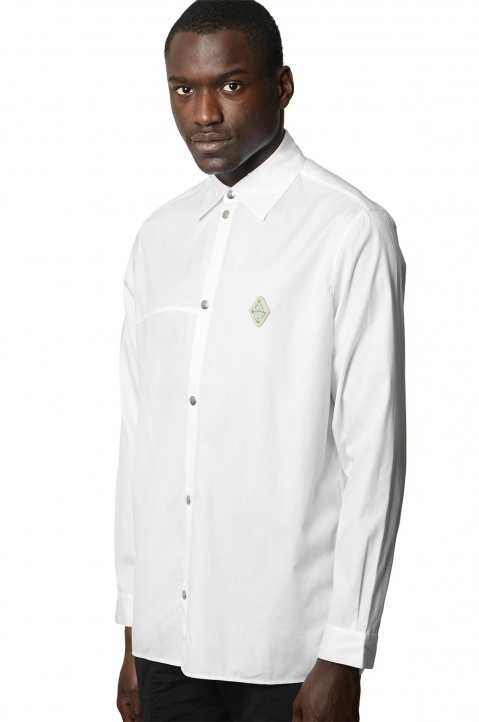 A-COLD-WALL* Badge White Shirt 0