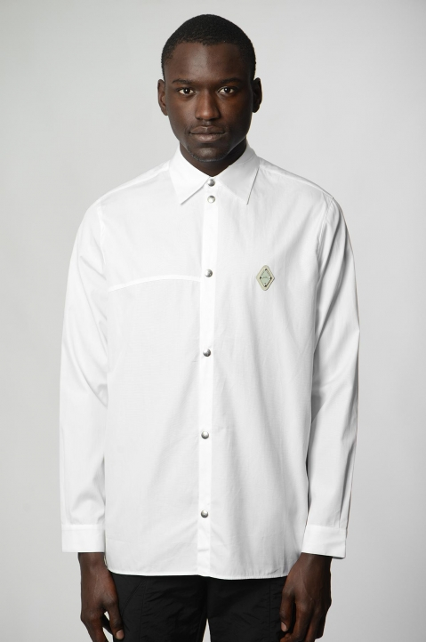 A-COLD-WALL* Badge White Shirt 1