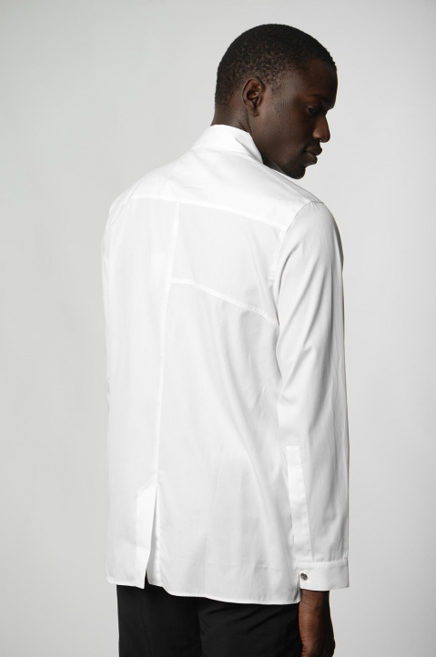 A-COLD-WALL* Badge White Shirt 2