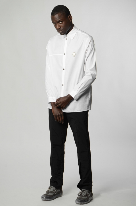 A-COLD-WALL* Badge White Shirt 3