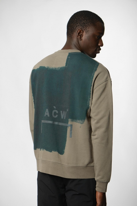 A-COLD-WALL* Block Painted Khaki Sweatshirt 2