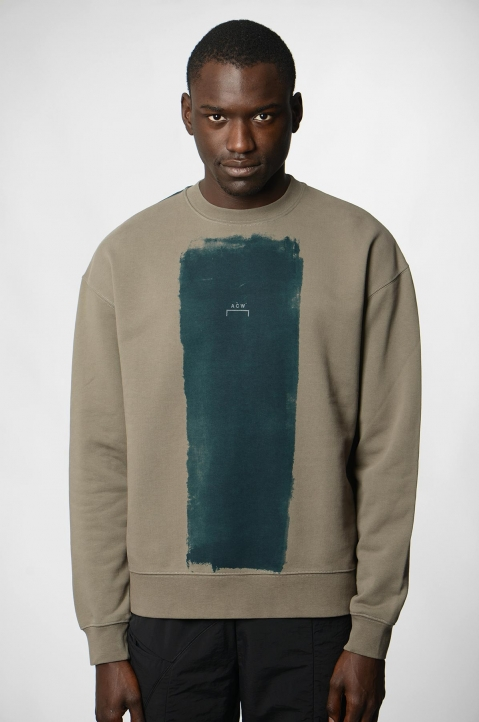 A-COLD-WALL* Block Painted Khaki Sweatshirt 1