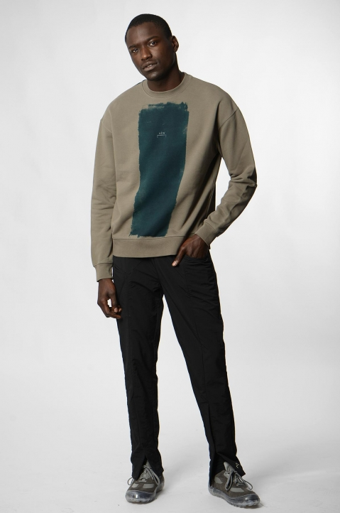 A-COLD-WALL* Block Painted Khaki Sweatshirt 3