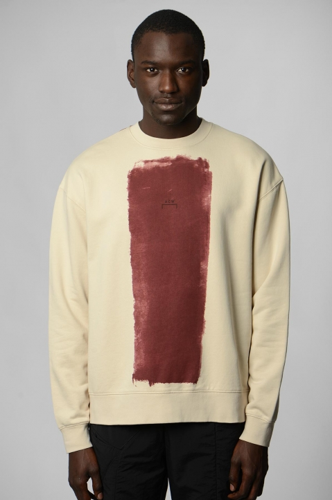 A-COLD-WALL* Beige Block Painted Sweatshirt 1