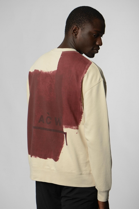 A-COLD-WALL* Beige Block Painted Sweatshirt 2