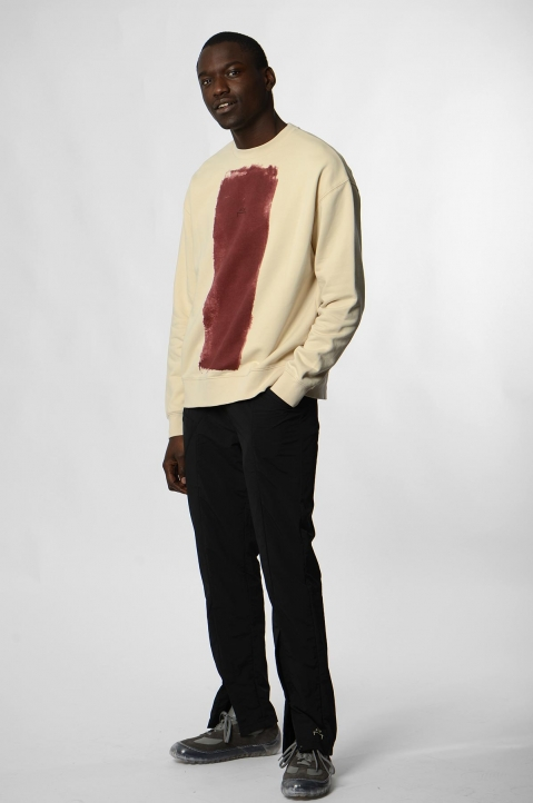 A-COLD-WALL* Beige Block Painted Sweatshirt 3