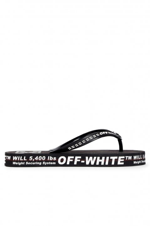 OFF-WHITE Black Flip Flops 0