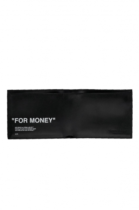 OFF-WHITE Quote Silver Bifold Wallet 3