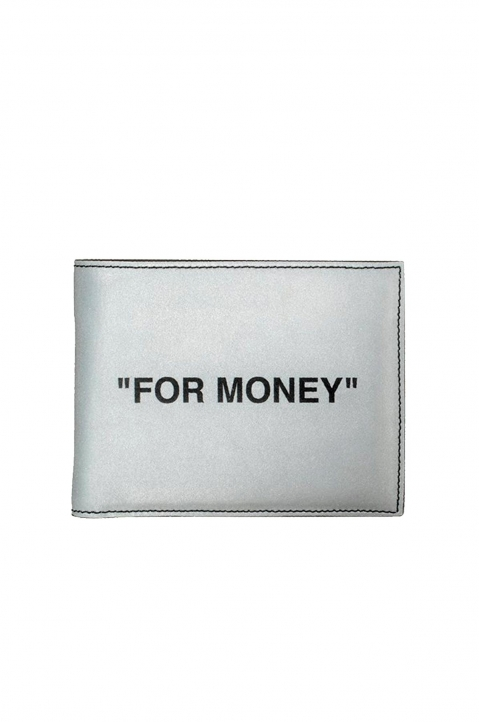 OFF-WHITE Quote Silver Bifold Wallet 0