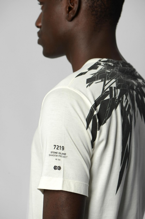 STONE ISLAND SHADOW PROJECT 7219 White Tee 2