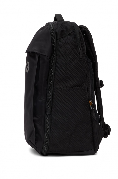Y-3 Black Nylon Backpack  3