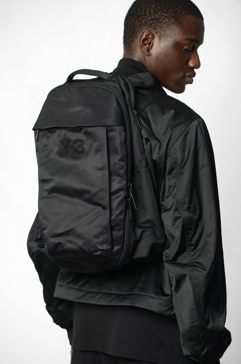Y-3 Black Nylon Backpack  4