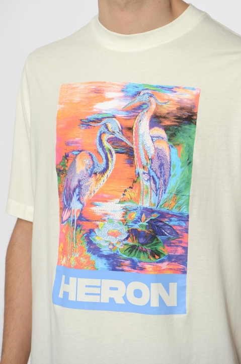 HERON PRESTON Colors Heron White Tee 2