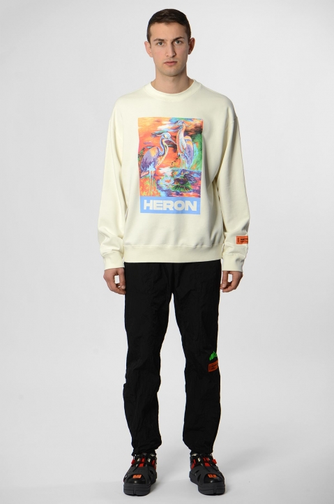 HERON PRESTON Colors Heron White Sweatshirt 2