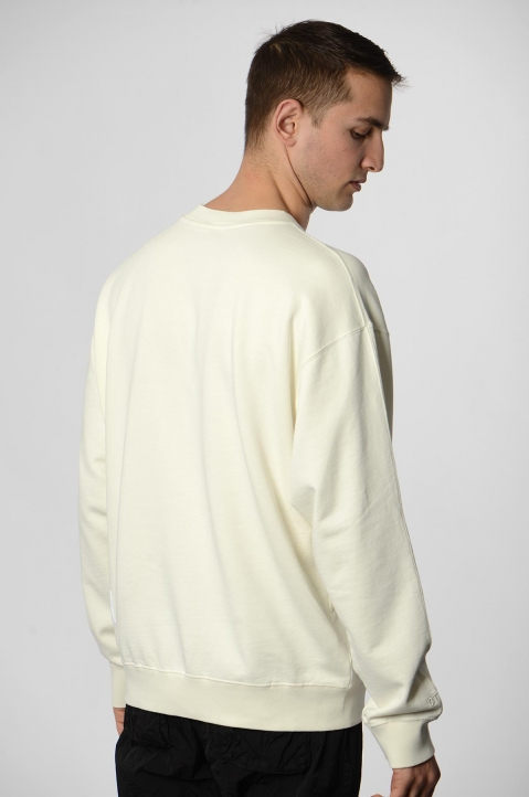 HERON PRESTON Colors Heron White Sweatshirt 1